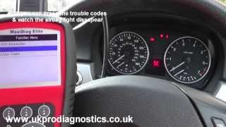 Autel MD802 DS Resetting An Airbag Light SRS