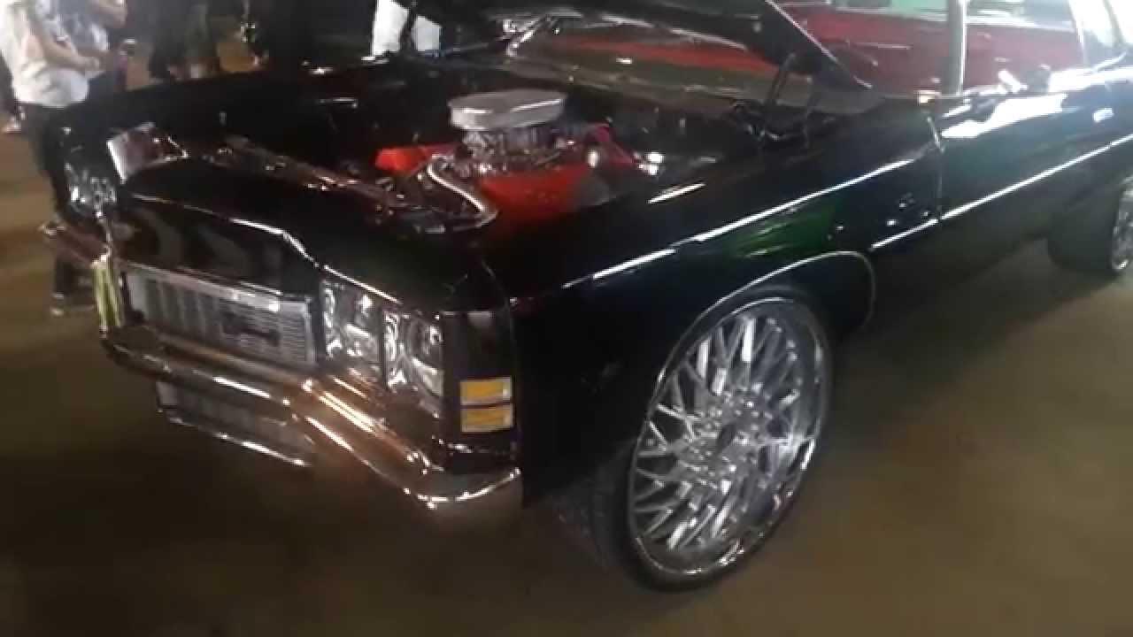 Riding Big Car Show Chevy Impala Donk On Big Rims On Cars
