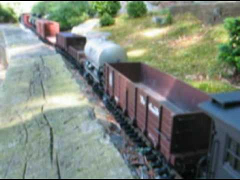 G scale garden model railroad