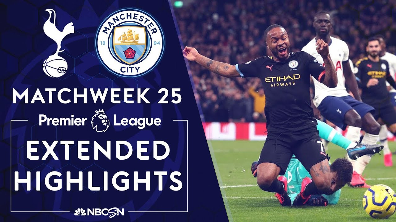 Tottenham v. Man City | PREMIER LEAGUE HIGHLIGHTS | 2/2/2020 | NBC Sports