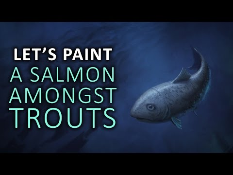 A SALMON AMONGST TROUTS - Let's Paint a Book Cover