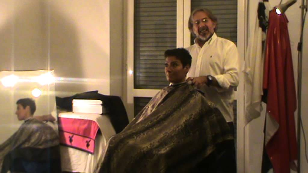 Hair fetish clipper shave