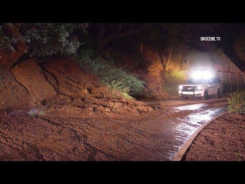Bel Air: Mudslide Blocks Road in High-End Neighborhood