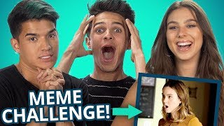 LIGHT AS A FEATHER MEME CHALLENGE w Brent Rivera Alex Wassabi and the Stokes Twins