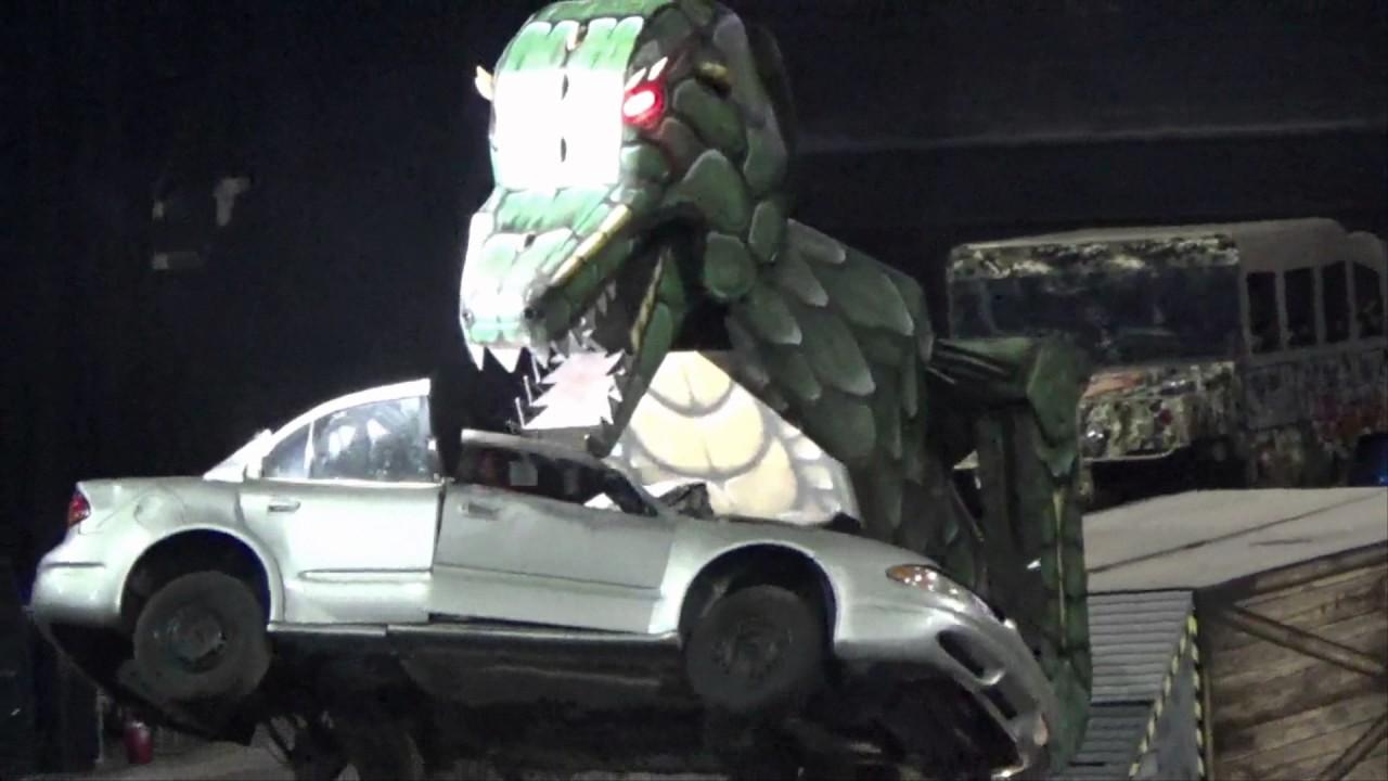 Transaurus Dinosaur Eats Car At Monster Truck Nationals Youtube
