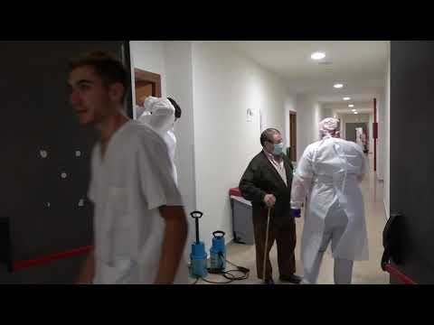 Cierre del Balneario de Fitero y salida de  sus ultimos pacientes