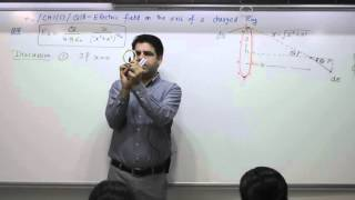 Class 10+2, Chapte 1C, Question 18, Electric field on the axix of a charged ring
