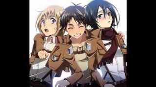 Shingeki no Kyojin/Attack on Titan - Eren, Mikasa and Armin - You spin my head right round!