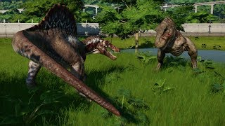 Spinosaurus VS Tyrannosaurus Rex Update 1.4 - Jurassic World Evolution