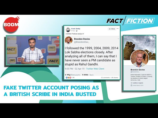Fact Vs Fiction: Fake Twitter Account Posing As A British Scribe In India Busted