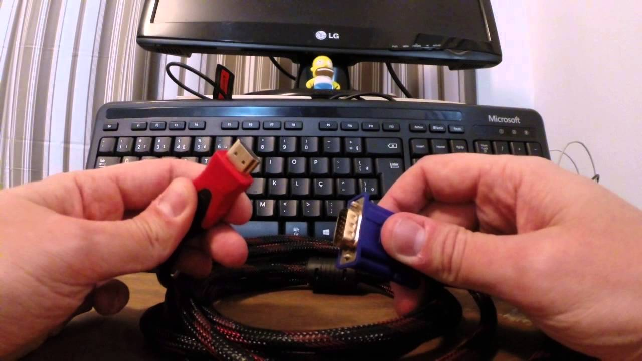 Cabo VGA para HDMI Funciona ? Qual Preço ? - YouTube