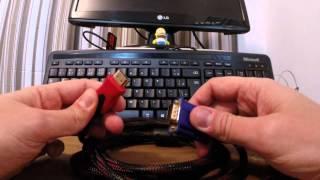 Cabo VGA para HDMI Funciona ? Qual Preço ?(, 2014-09-16T23:36:36.000Z)