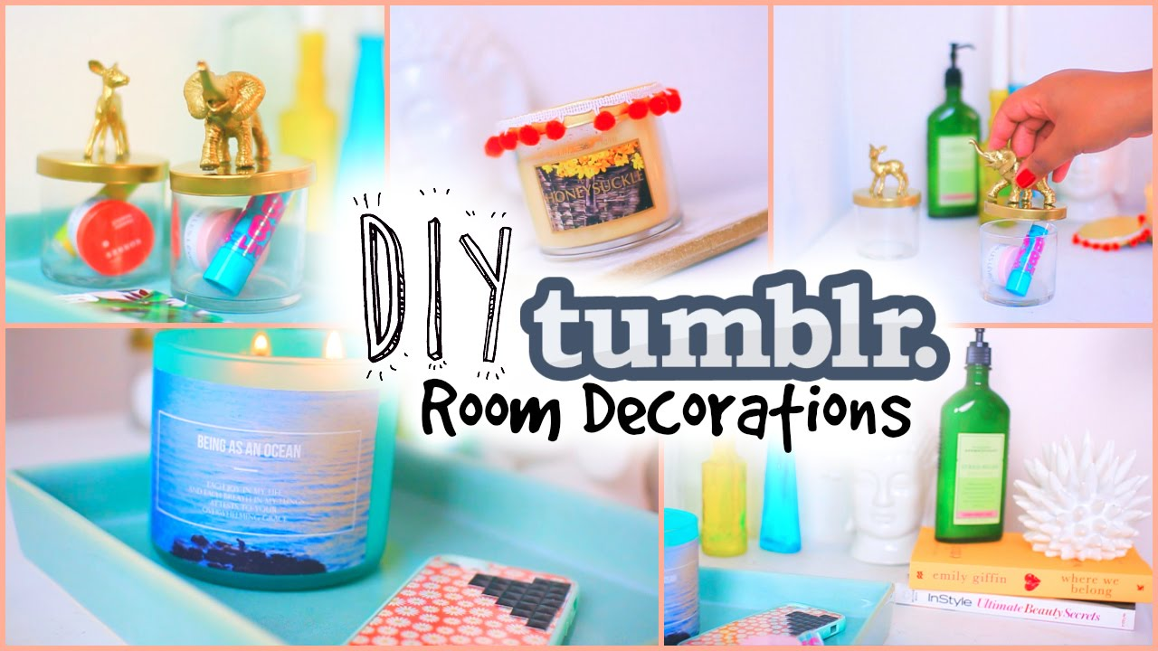 diy tumblr room decor for teens cheap youtube - Cheap Diy Bedroom Decorating Ideas