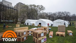 Hospital Tents Erected in Central Park as Medical Responders Battle Their Own Virus Cases | TODAY