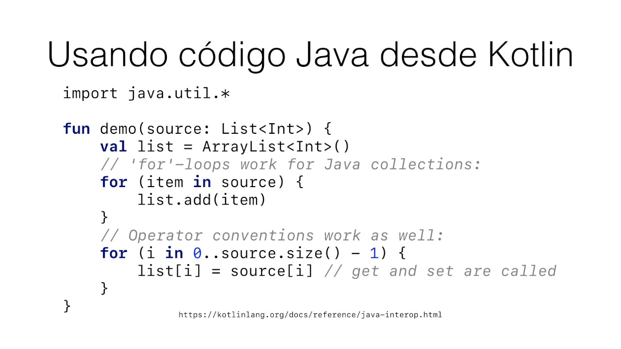 Kotlin - GUI con Swing - Interoperabilidad con Java