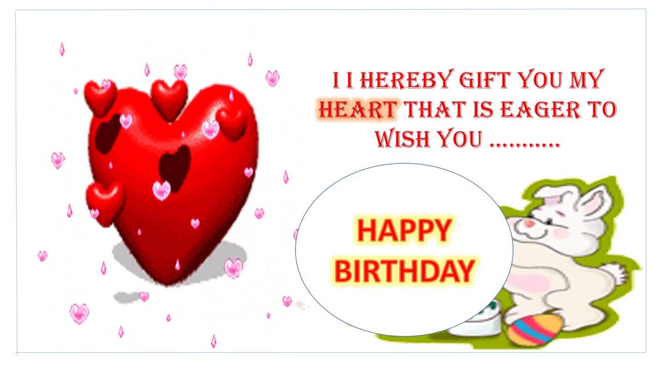 Sweet Cute Happy Birthday Wishes For Girlfriend Musical Card Girl Friend Whatsapp