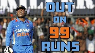 Batsman Dismissed on 99 Runs in Cricket || Unluckiest Moments in Cricket