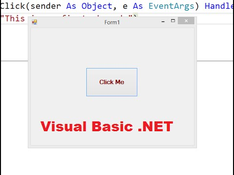 Create a simple visual basic application in visual studio 2015 create a simple visual basic application in visual studio 2015 youtube ccuart Gallery