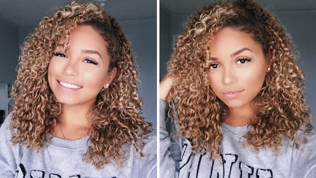 clip-in curly extensions