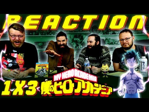 "My Hero Academia [English Dub] 1x3 REACTION!! ""Roaring Muscles"""