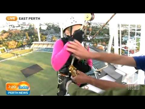 Abseil For Breast Cancer Care WA Part 1 | Today Perth News