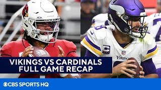 Vikings vs Cardinals: Kyler Murray accounts for 4 TD in win [FULL recap]