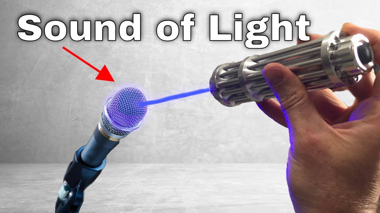 How Microphones Can Record Light―Recording My Voice As Light Waves