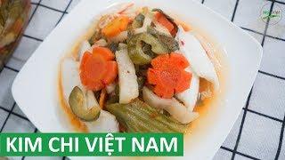 Cách làm Dưa Món ngâm giấm theo phong cách kim chi   Món Việt Channel