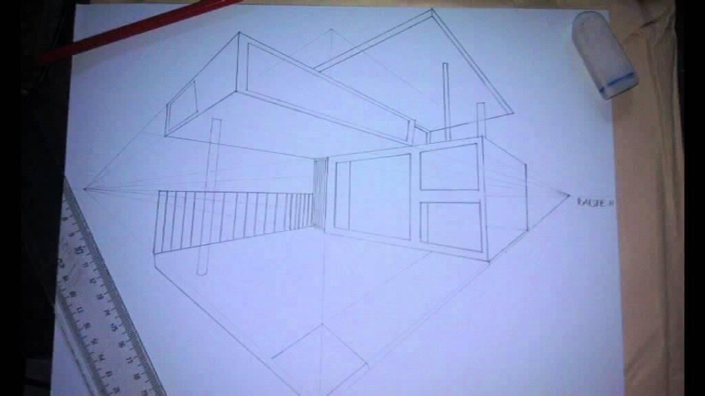 dessiner maison ext rieur 2 points de fuite par dadje hermann 2 youtube. Black Bedroom Furniture Sets. Home Design Ideas