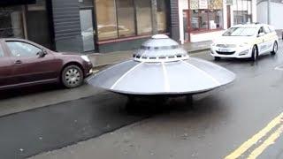 Irish Police Escort Mysterious UFO Down Main Street (Storyful, Crazy)