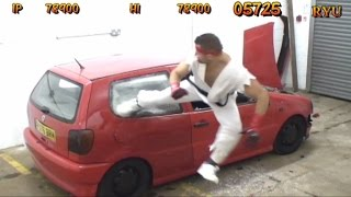 REAL LIFE Street Fighter Car Bonus Stage