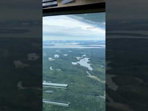 Flying across Ontario, Canada