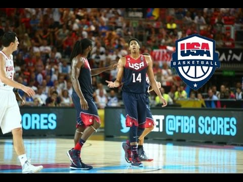 Anthony Davis & Kenneth Faried Team USA Full Highlights 2014.31.8 vs Turkey - 41 Pts, 14 Rebs!