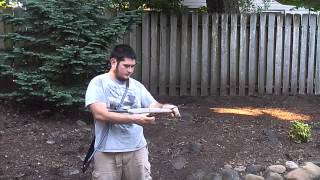 Shooting a 3-Piece PVC Takedown Bow, HI-11