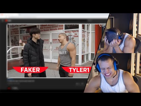 TYLER1 REACTS TO HIM & FAKER VISITING HEART ATTACK GRILL