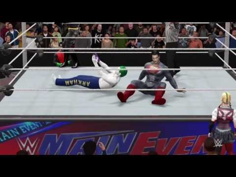 WWE2k16 match ups #31 batman,superman vs joker and lex luthor!!!!!!!