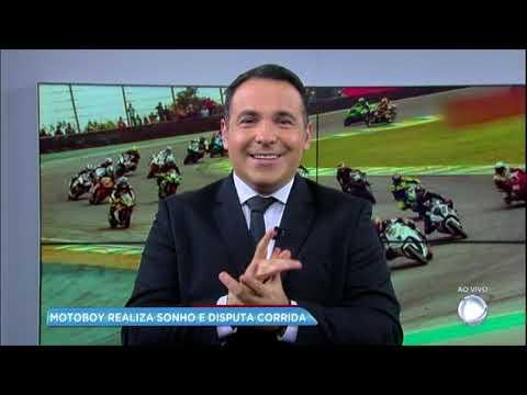 Motoboy realiza sonho de disputar campeonato no autódromo de Interlagos