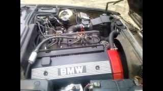BMW E 34 520i pierwsze palenie po remoncie silnika