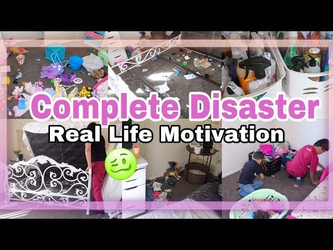 Huge Complete Disaster Cleaning Motivation  Speed Clean With Me  Time Lapse Style/Super Messy House