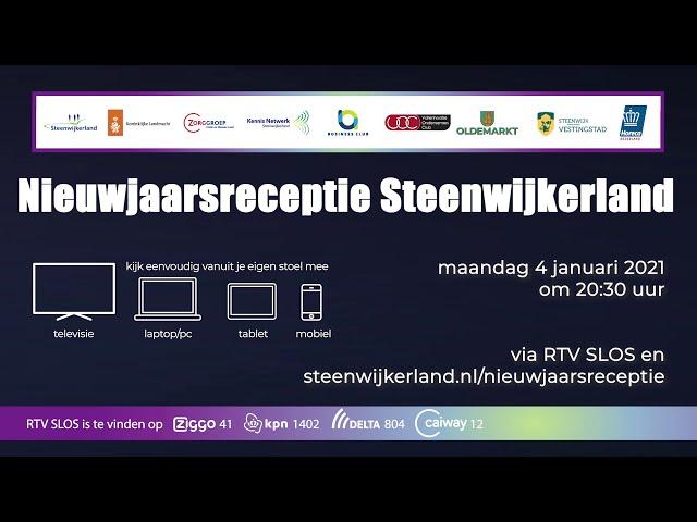 Aankondiging nieuwjaarsreceptie Steenwijkerland
