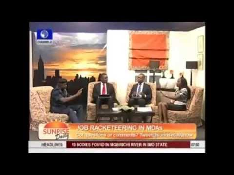 Maupe Ogun of Channels TV Forgot To Wear Bra on Air