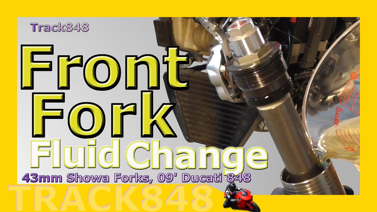 How to Change Motorcycle Front Fork Fluid / Oil