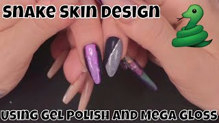 Snake Skin Nail Design using Gel Polish