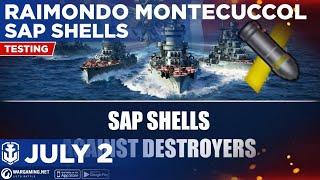 World of Warships Blitz: Tier 5 Raimondo Montecuccoli SAP Shells Against Every Tier 5 Destroyers