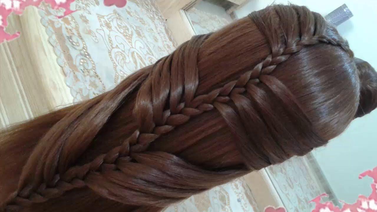 Peinados de cascada faciles para cabello largo bonitos y - Peinados faciles y rapidos paso a paso ...
