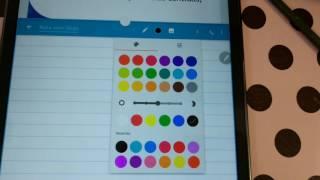 Estudos com o tablet na faculdade