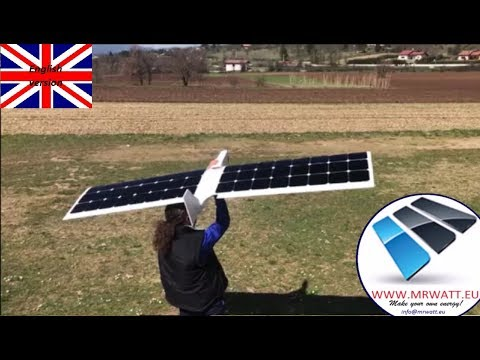 Solar plane RC. 600Km of autonomy without batteries. Land and sea monitoring. Model SolarDR1L 2.0