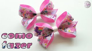 Laço Cris Fita N5 Ribbon Bow Tutorial DIY by Elysia Handmade Top TE...