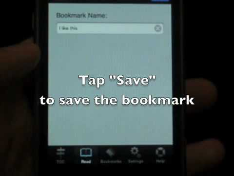 Self Publish iPhone eBook – Bookmark features