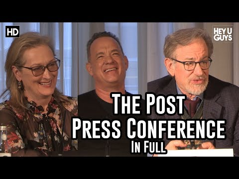 The Post Press Conference - Steven Spielberg, Tom Hanks & Meryl ...